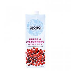 Organic Juice Tetra - Apple & Cranberry - 1lt