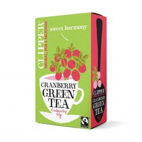 Fairtrade Green Tea with Cranberry 20 bags