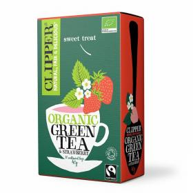 Organic Fairtrade Green Tea with Strawberry 20 bags