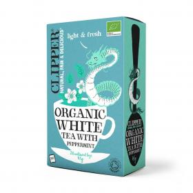 Organic White Tea with Natural Peppermint Flavour 26 Bags