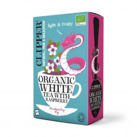 Organic White Tea with Natural Raspberry Flavour 26 bags