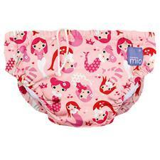 Reusable Swim Nappy Mermaid 6-12m