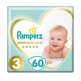 PAMPERS PREMIUM CARE No3 60PCS JUMBO 1+1