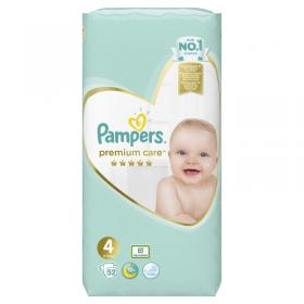 PAMPERS PREMIUM CARE No4 52PCS JUMBO