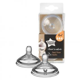 Closer to Nature Fast Flow Teats - 2 Pack