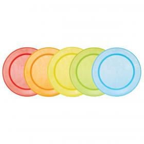 5  MULTI-COLOURED FEEDING PLATES