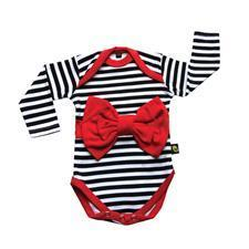 Red Bow Stripe Long Sleeve
