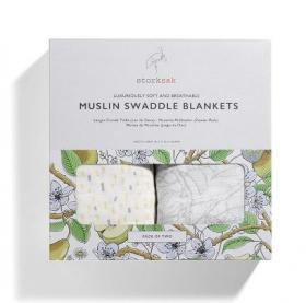 MUSLIN SWADDLE BLANKETS MIXED PRINT - 2 PACK