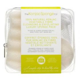 Σετ σφουγγάρια 100% PURE KONJAC DELUXE DUO TRAVEL PACK