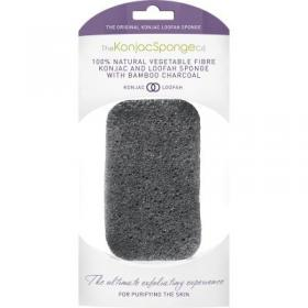 Σφουγγάρι σώματος KONJAC LOOFAH MEDLEY BODY SPONGE WITH BAMBOO CHARCOAL