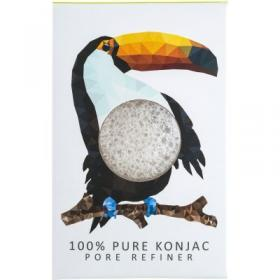 Σφουγγάρι προσώπου KONJAC MINI PORE REFINER RAINFOREST TOUCAN