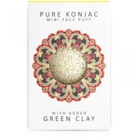 Σφουγγάρι προσώπου Mini Konjac Pore Refiner French Green Clay