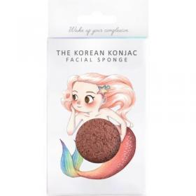Σφουγγάρι προσώπου Mythical Mermaid Konjac Red Clay Face Sponge & Hook