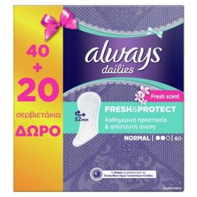 ALWAYS FRESH&PROTECT NORMAL FRESH PADS 40PCS