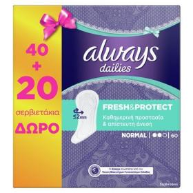 ALWAYS FRESH&PROTECT NORMAL PADS 40PCS